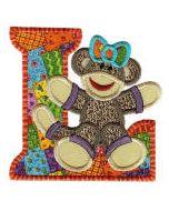 Sock Monkeys Applique Alphabet 4x4