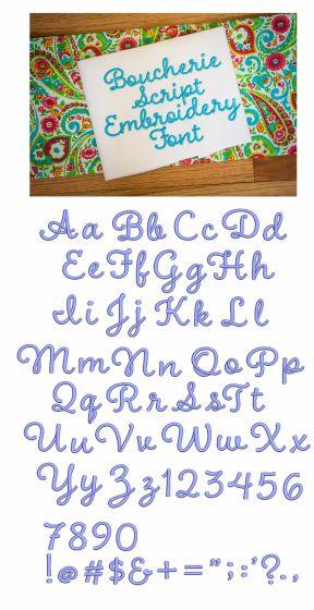 Boucherie Script Embroidery Font
