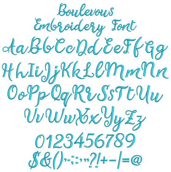 Boulevous Embroidery Font