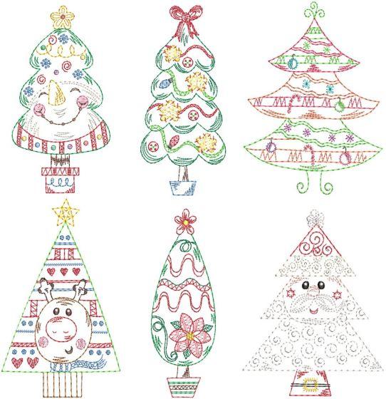 Vintage Stitch Sweet Christmas Trees