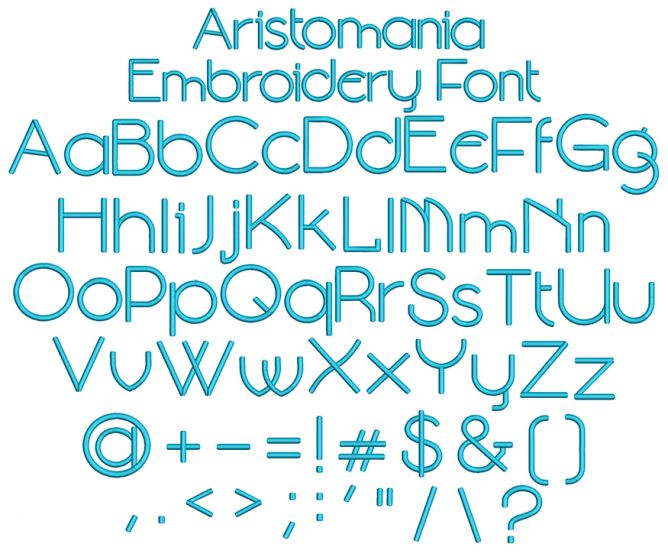 Aristomania Embroidery Font Machine Embroidery Designs By JuJu