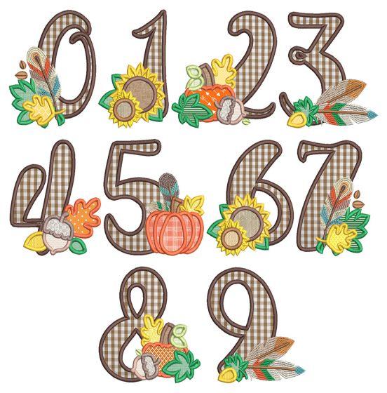 Autumn Applique Numbers