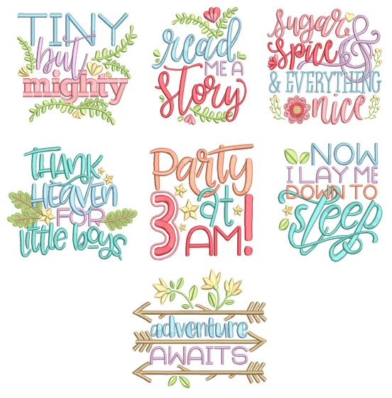 Baby Blessings 8 Machine Embroidery Designs by JuJu