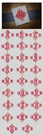 Adorn Trio Ornamental Monogram Designs by JuJu Machine Embroidery Designs