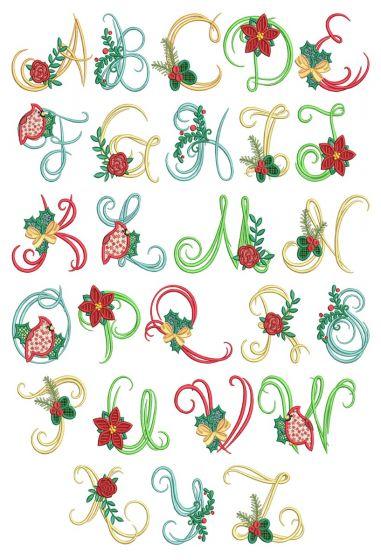 Christmas Script Alphabet