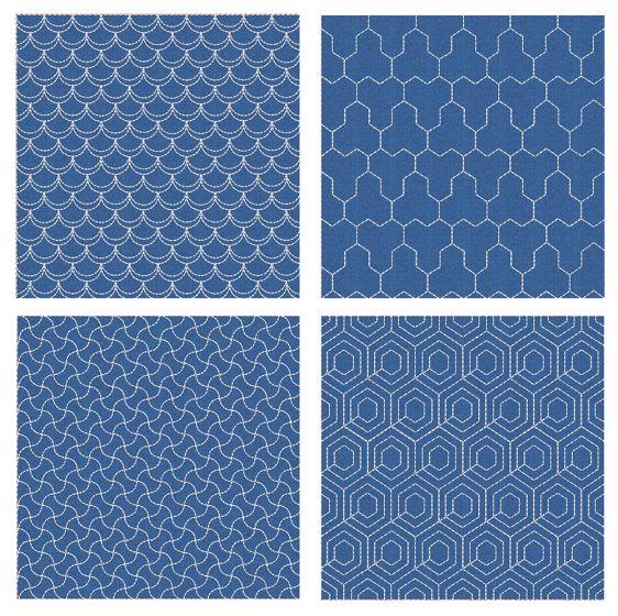 Sashiko Quilt Blocks 15 Machine Embroidery Designs by JuJu