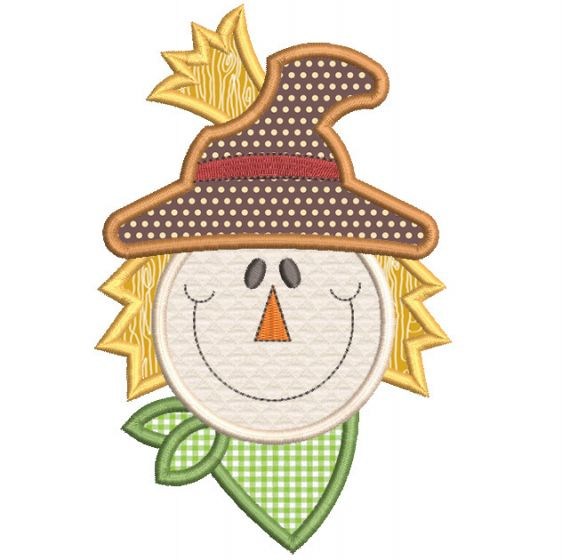 Free Whimsical Scarecrow Applique Machine Embroidery Designs by JuJu