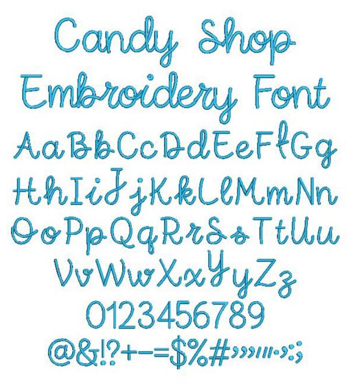 Candy Shop Embroidery Font