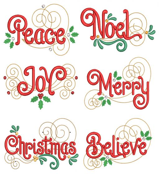 Swirly Christmas Blessings