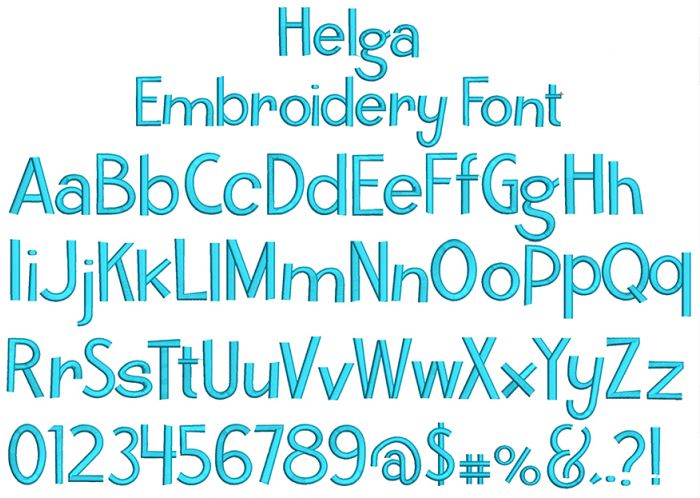 Helga Embroidery Font Machine Embroidery Designs By JuJu