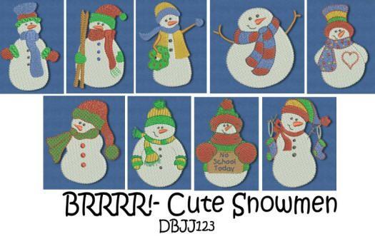 Brrrrr!-Cute Snowmen  4x4 and 5x7