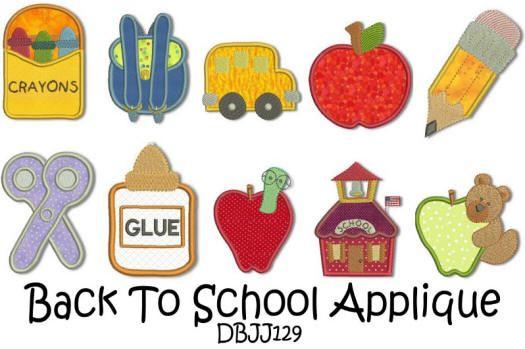 Back to School Applique 4x4