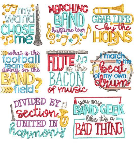 Band Word Art Machine Embroidery Designs By JuJu