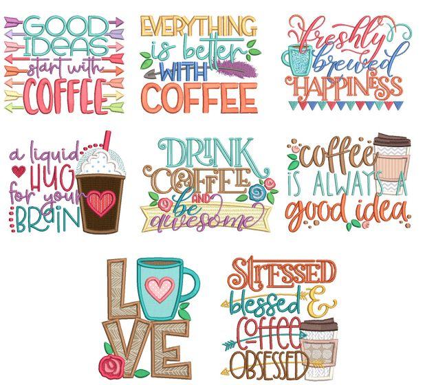 Coffee Word Art 4