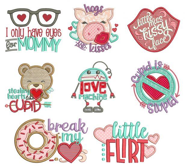 Lil Love Applique Machine Embroidery Designs By JuJu