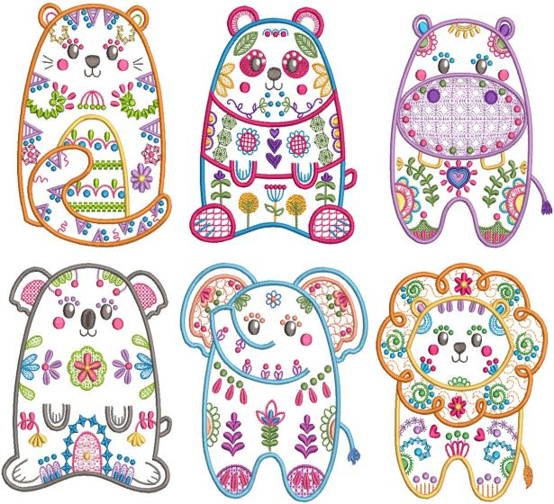 Folk Art Animals 3