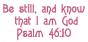 Be still and know psalm 46:10 free machine embroidery design