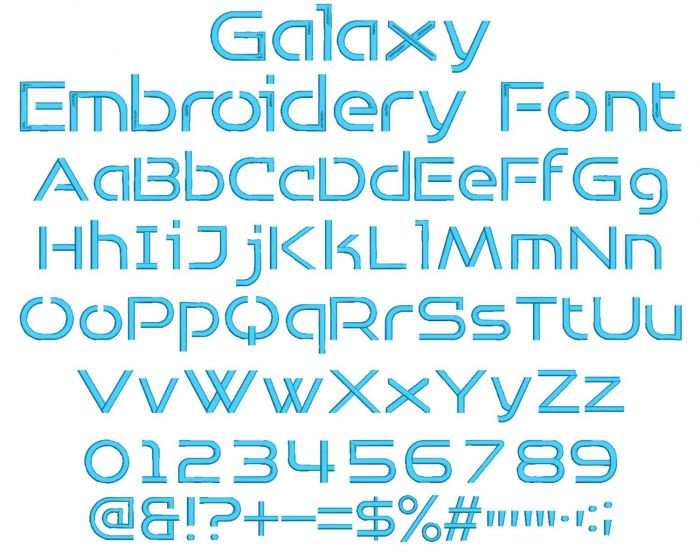 Galaxy Embroidery Font