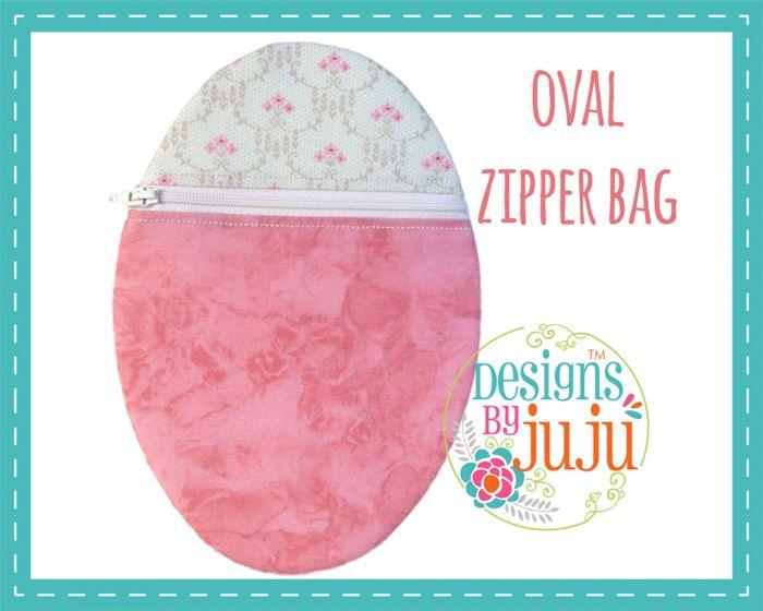 Oval Zipper Pouch