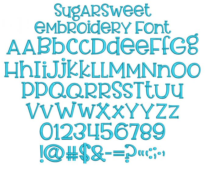 Sugar Sweet Embroidery Font