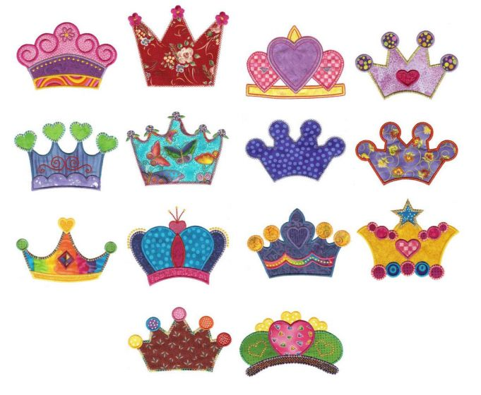 Crowns and tiaras if the crown fits applique machine embroidery designs