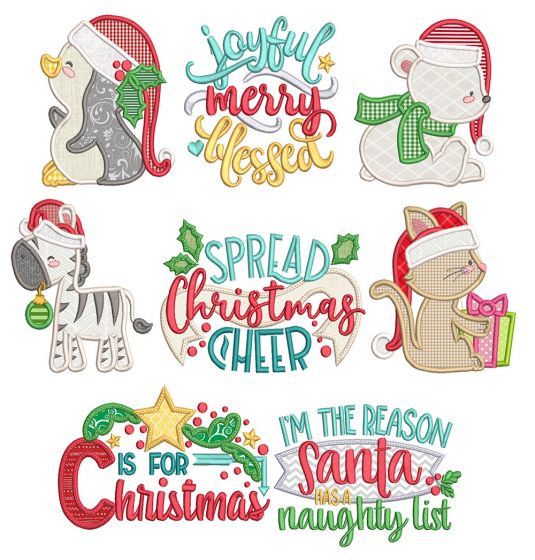 Be Jolly 2 Machine Embroidery Designs By JuJu