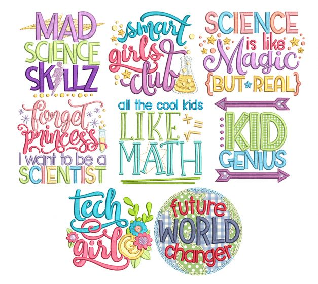 Smart Kids 1 Word Art Machine Embroidery Designs By JuJu