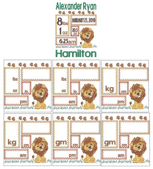 Lion Birth Announcement Template