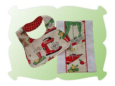 Dolly Bib and Burp Cloth Gift Set