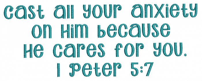 Free Bible Verse machine embroidery design 1 peter 5:7