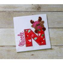 Girl Reindeer Alphabet