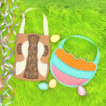 In The Hoop Easter Treat Bags Set 4 Machine Embroidery Designs by JuJu