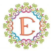 Mehndi Monogram Frames Set 1 Machine Embroidery Designs By JuJu