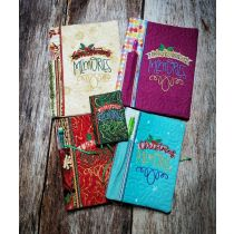 Designs by JuJu Machine Embroidery Designs In The Hoop Christmas Notebook Covers Christmas Memories