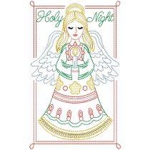 Christmas Greeting Cards Set 2 Digital Machine Embroidery Designs by JuJu