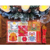 In The Hoop Christmas Placemat 3 Digital Machine Embroidery Designs by JuJu