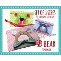 3D Bear Zip Pouch