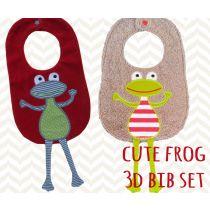 Cute Frog 3D Bib