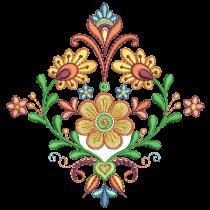 Folk Art Floral Machine Embroidery Designs by JuJu