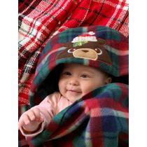 Designs by JuJu Hooded Fleece Blanket Pattern and Tutorial