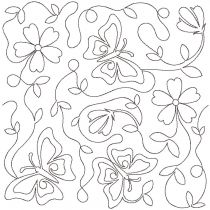 Butterflies End-to-End E2E Allover Edge to Edge Quilting Machine Embroidery Designs by JuJu