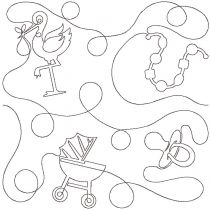 Nursery 2 End-to-End E2E Allover Edge to Edge Quilting Machine Embroidery Designs by JuJu