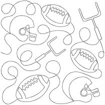 Football End-to-End Quilting Embroidery Design