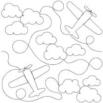 Airplanes End-to-End Quilting Embroidery Design