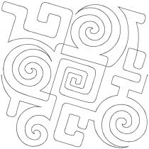 Geo Swirls End-to-End Quilting Embroidery Design