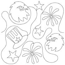 Patriotic 2 End-to-End Quilting Embroidery Design