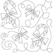 Candycane Christmas End-to-End Quilting Embroidery Design