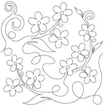 Forget Me Nots End-to-End Quilting Embroidery Design