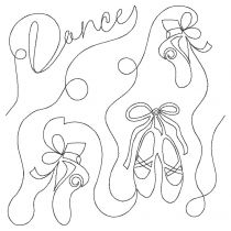 Ballet End-to-End Quilting Embroidery Design