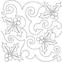 Christmas Holly Swirls End-to-End E2E Allover Edge to Edge Quilting Machine Embroidery Designs by JuJu